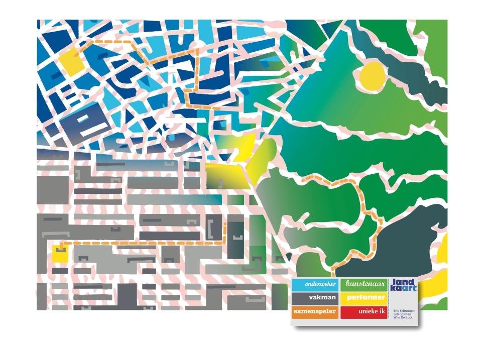 Landkaart globaal