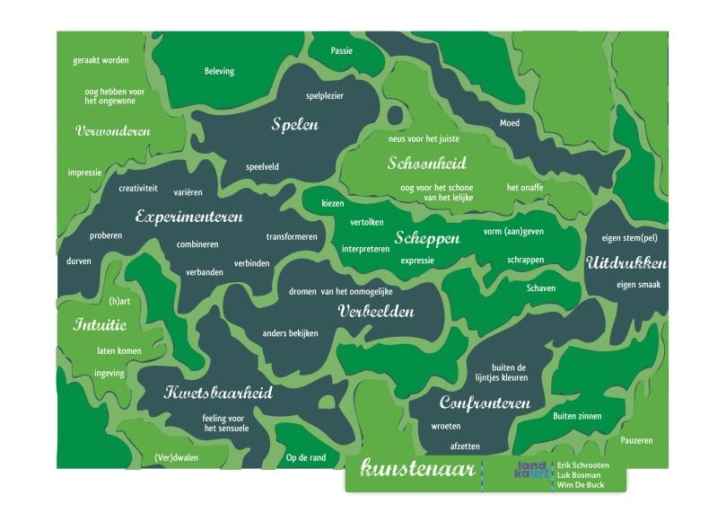 Landkaart kunstenaar